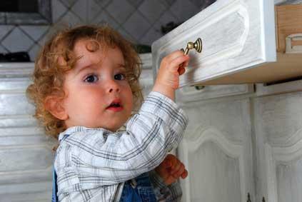 La cuisine: prévention des accidents domestiques chez l'enfant