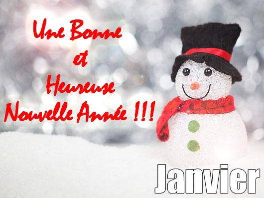 En janvier, une bonne année à vous tous...